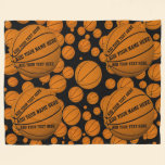 Basketballs Fleece Blanket