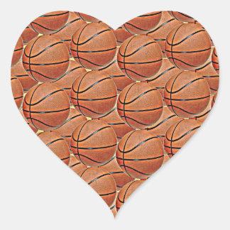 BASKETBALLS HEART STICKER
