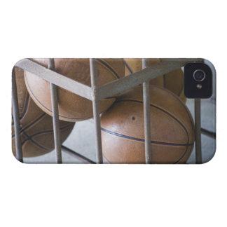 Basketballs in a basket iPhone 4 case