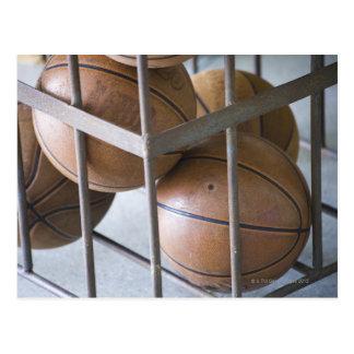 Basketballs in a basket postcard