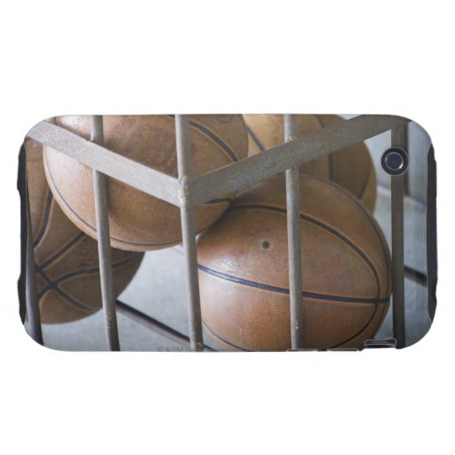 Basketballs in a basket tough iPhone 3 cases