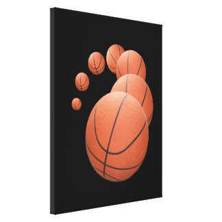 Basketballs in the Air Canvas Print