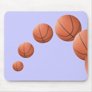 Basketballs in the Air Mouse Pad