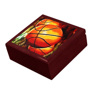 Basketballs Keepsake Jewelry Gift Box