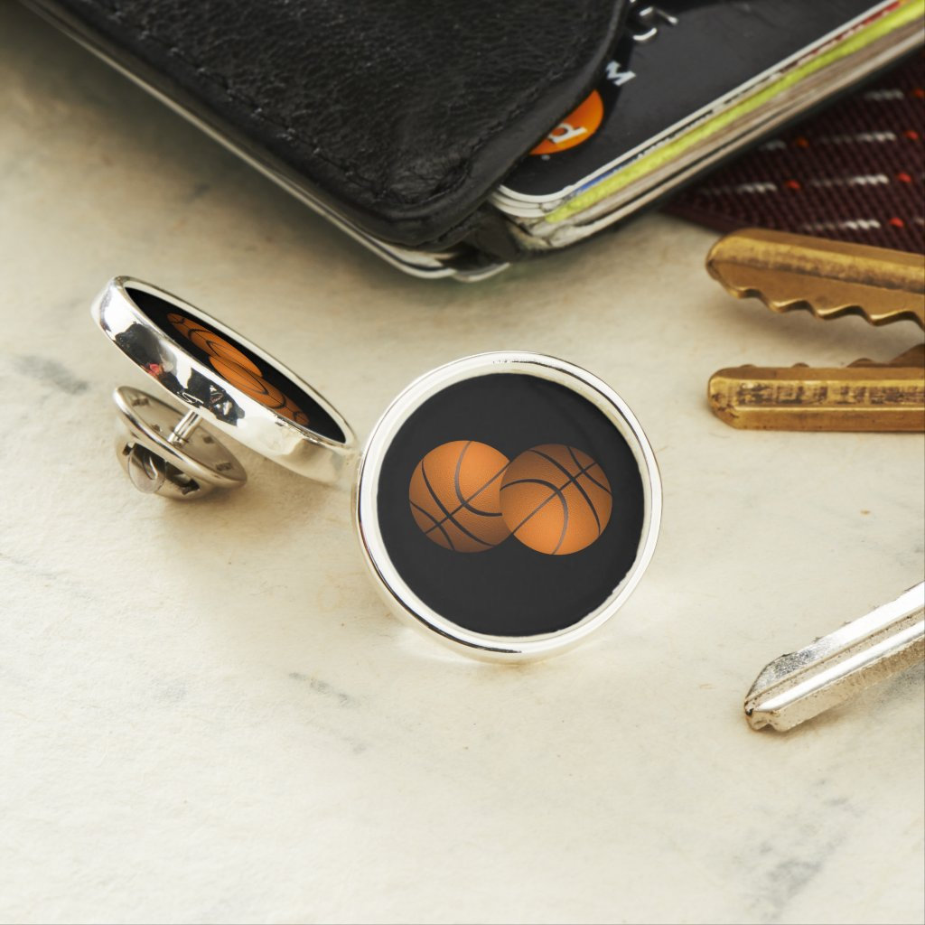 Basketballs Lapel Pin