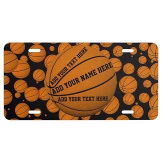 Basketballs License Plate
