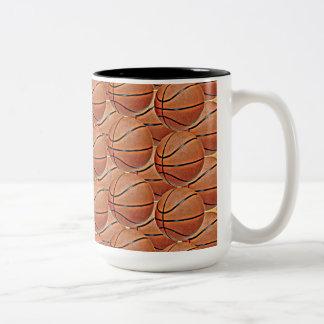 BASKETBALLS Two-Tone COFFEE MUG