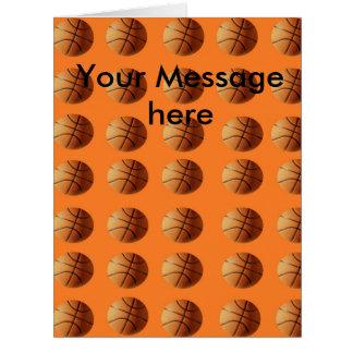 Basketballs_On_Orange,_Big_Add Text_Greeting_Card Card