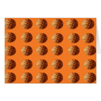 Basketballs_On_Orange,_Greeting_Card Card