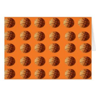 Basketballs_On_Orange,_Note_Greeting_Card Card