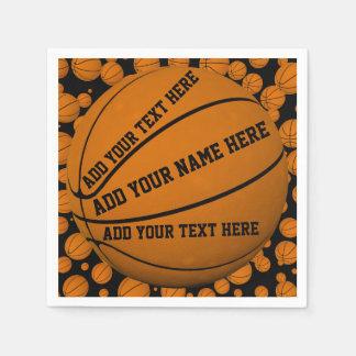 Basketballs Paper Napkin
