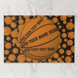 Basketballs Paper Placemat