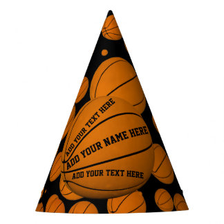 Basketballs Party Hat