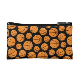 Basketballs Pattern Cosmetic Bag
