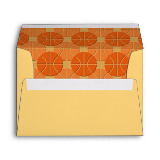 Basketballs pattern envelope
