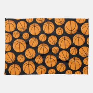 Basketballs Pattern Hand Towel