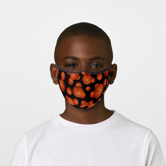 Basketballs pattern monogrammed premium face mask