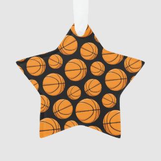 Basketballs Pattern Ornament