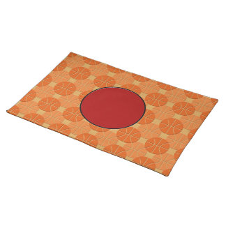 Basketballs pattern placemat