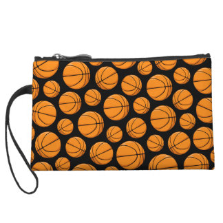 Basketballs Pattern Wristlet Wallet