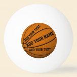 Basketballs Ping-Pong Ball