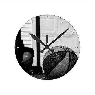 Basketballs Round Clock