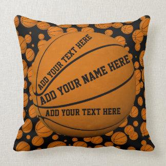 Basketballs Throw Pillow