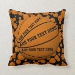 Basketballs Throw Pillows