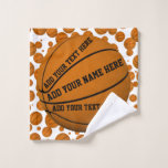 Basketballs Wash Cloth