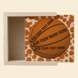 Basketballs Wooden Keepsake Box