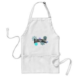 basketballwithblueflowers-10x10 adult apron