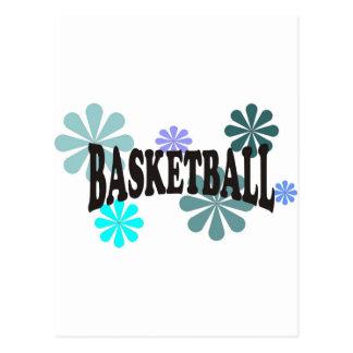 basketballwithblueflowers-10x10 postcard