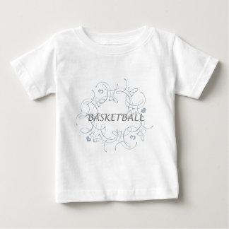 basketballwithswirlybackgroundandmore-10x10 playera de bebé