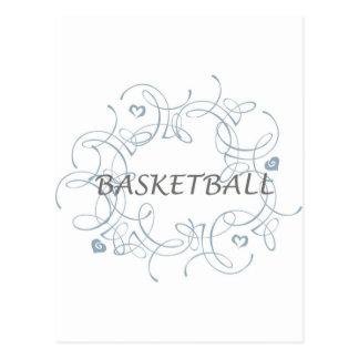 basketballwithswirlybackgroundandmore-10x10 postcard