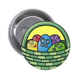 Basketcase divertido Pascua Pin Redondo 5 Cm