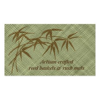 Basketry and rush matting business card
