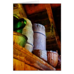 Baskets and Barrels in Attic Greeting Cards