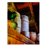Baskets and Barrels in Attic Postcard