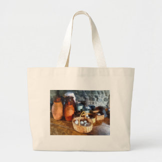 Baskets of Eggs Large Tote Bag