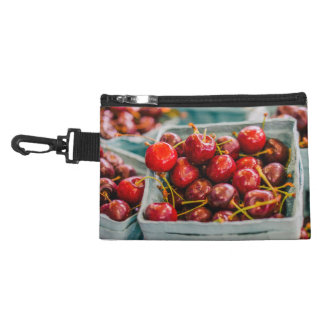 Baskets of Fresh Cherries at The Farmers Market Accessory Bag