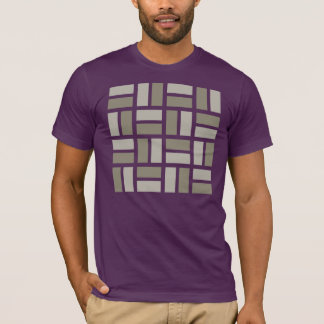 Basketweave geometric t-shirt in gray