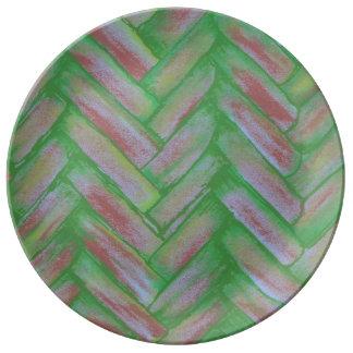 Basketweave Porcelain Plate