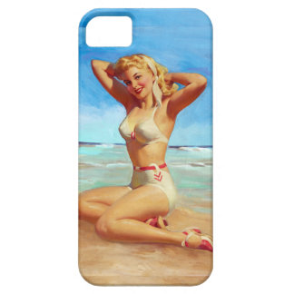 Basking on the Beach Pin Up iPhone SE/5/5s Case