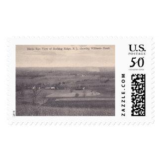 Basking Ridge NJ, Aerial View, Vintage Postage