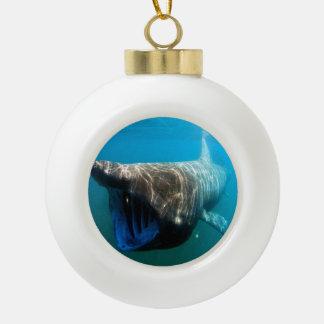 Basking shark (Cetorhinus maximus) Ceramic Ball Christmas Ornament