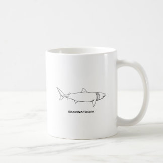 Basking Shark Illustration (line art) Coffee Mug