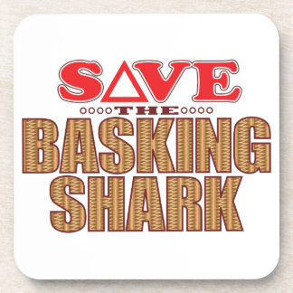 Basking Shark Save Beverage Coaster