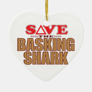Basking Shark Save Ceramic Ornament