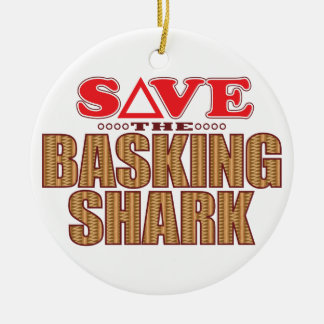 Basking Shark Save Ceramic Ornament