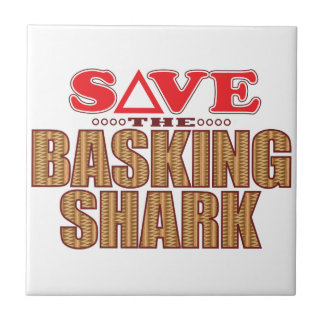 Basking Shark Save Ceramic Tile